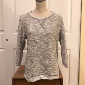 Knit gray sweater